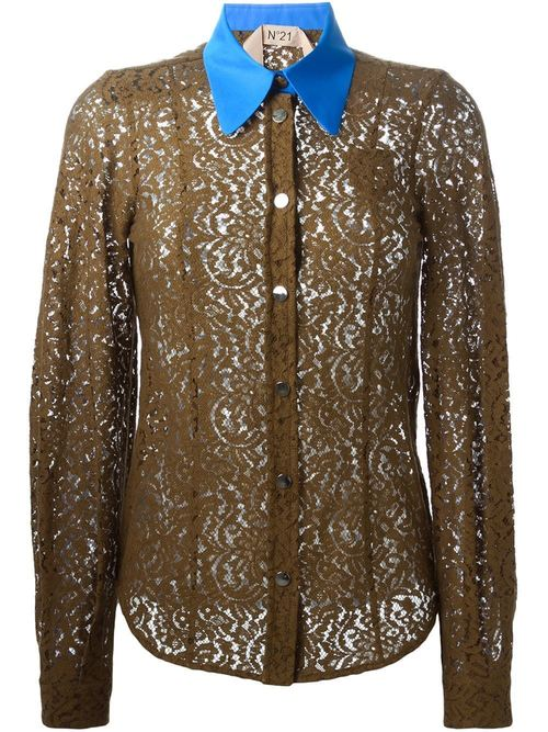 Brown Lace Shirt
