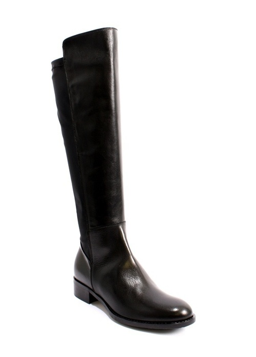 Black Leather Side-Zip / Elastic Insert Riding Boots