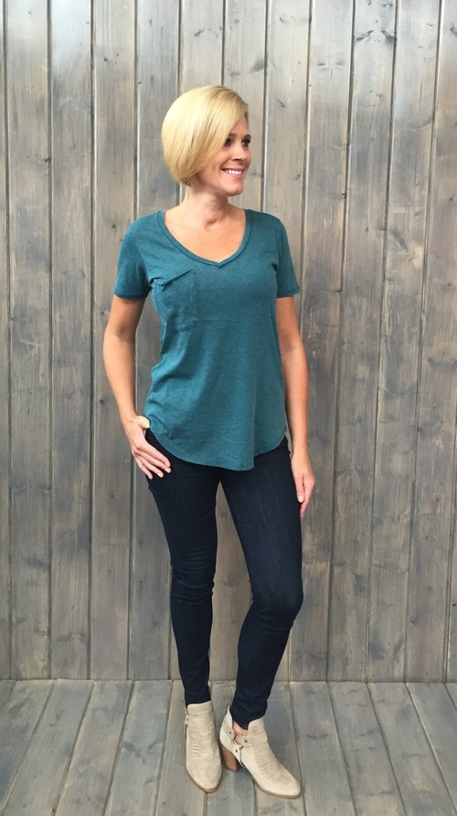 Pocket Tee Deep Teal