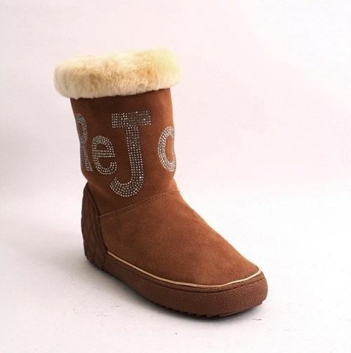 Camel Suede Sheepskin Boots