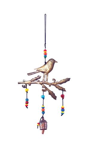 Bird on Holly Branch Bell Chime
