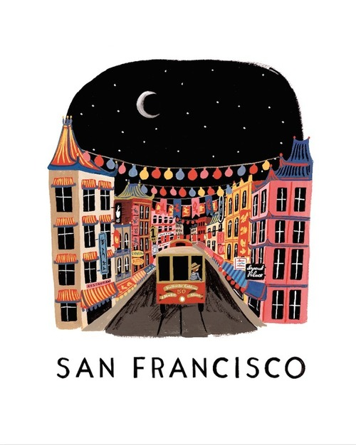 San Francisco Print  8x10 - Rifle Paper Exclusive