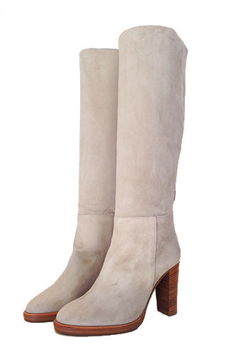 Stretch Velour Heeled Boot