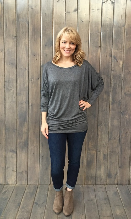 Charcoal Essential Dolman