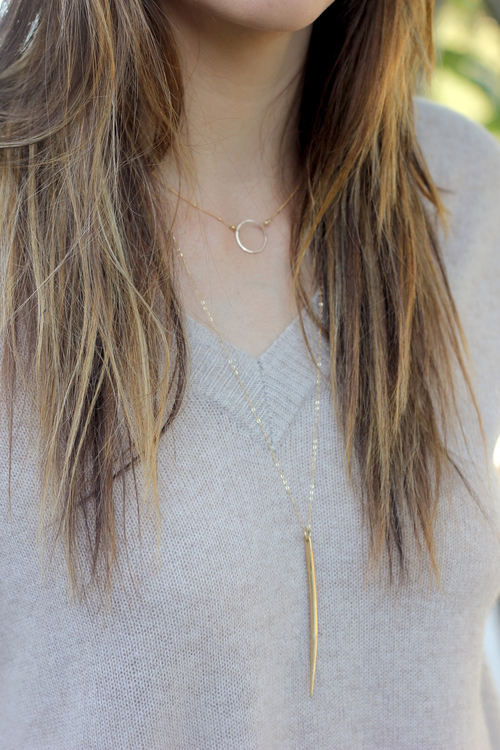 GF Large Quill Necklace