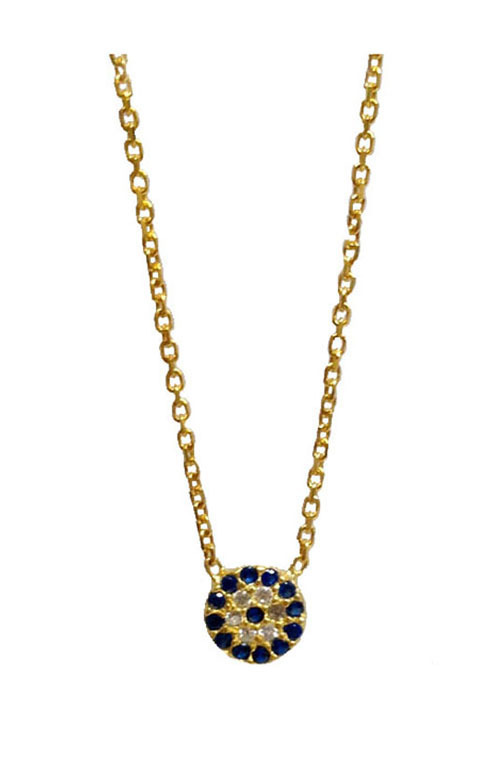 Tiny Evil Eye Necklace Gold