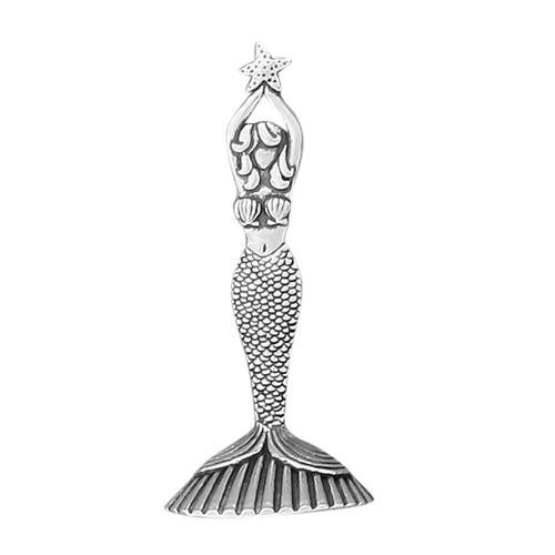 Mermaid Ring Holder Pewter