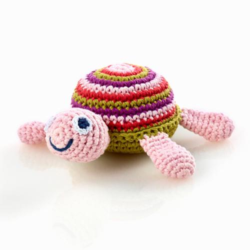 Sea Turtle Rattle Pink/Orange/Purple