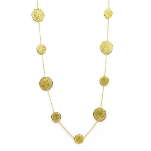 Long Gold Coin Necklace