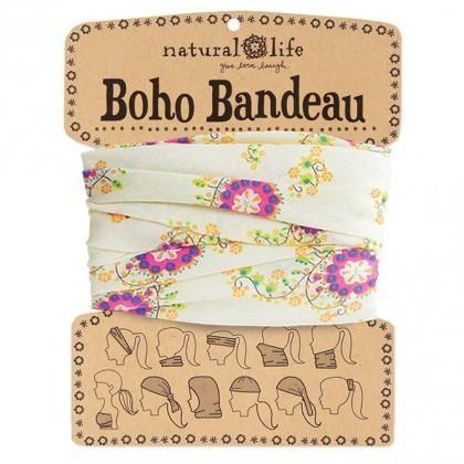 Cream & Pink Boho Bandeau