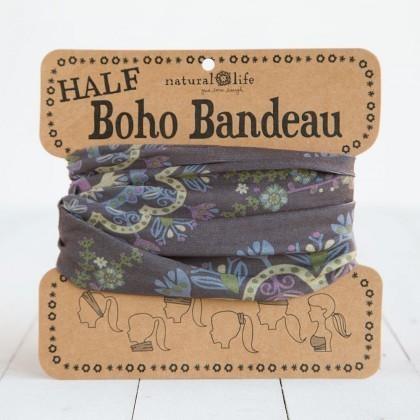 Navy, Purple & Cream Half Boho Bandeau