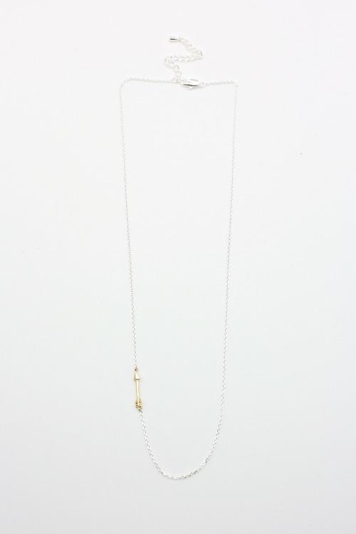 Gold Arrow Sideways Necklace