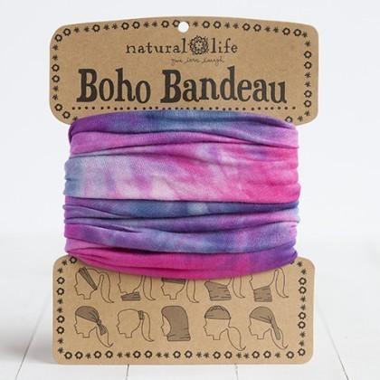 Pink, Blue & White Boho Bandeau