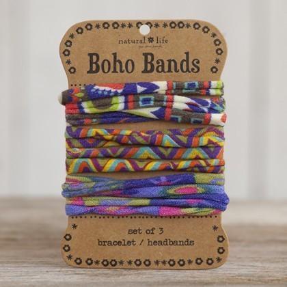 Red Zigzag Boho Bands