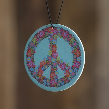 Blue Peace Sign Air Freshener