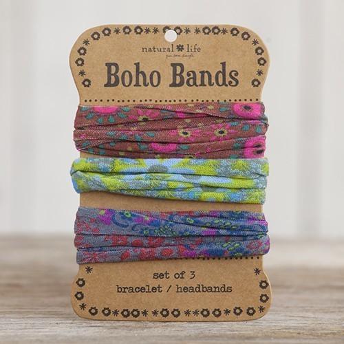 Brown, Green & Grey Boho Bands