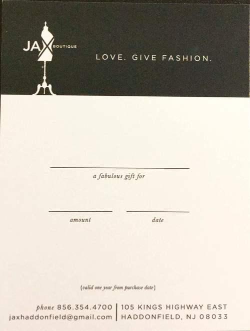 JAX Boutique Gift Certificate