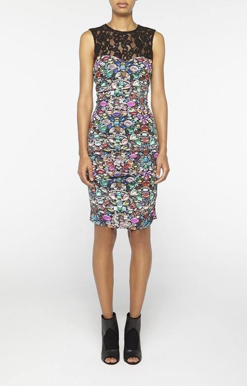 Luxuriant Lace Combo Dress
