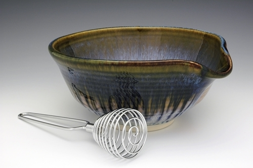 Small Batter Bowl With Whisk
