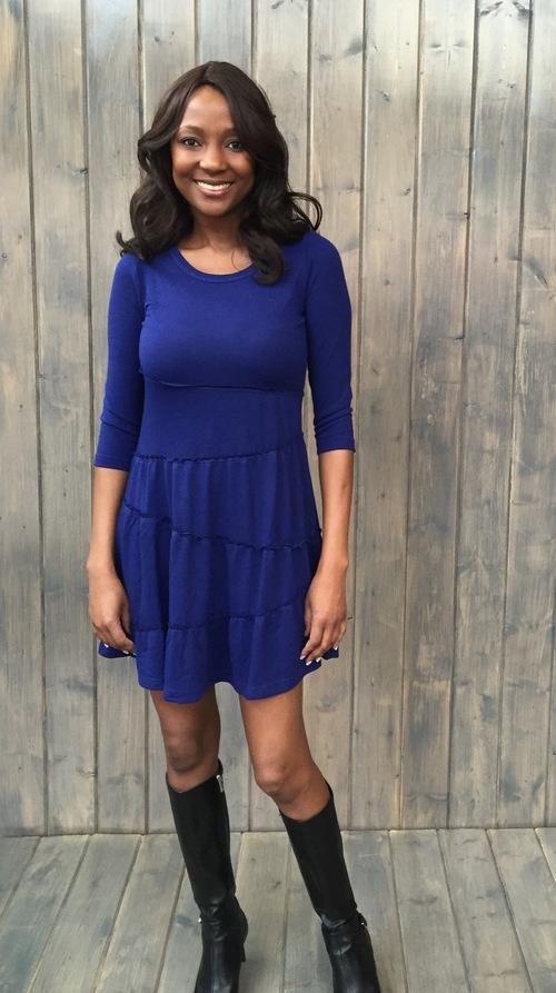 Cobalt Tiered Dress