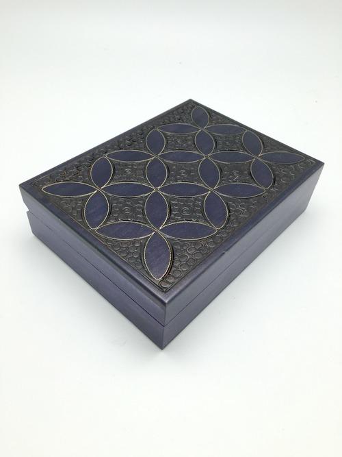 Art Nouveau Large Wood Box
