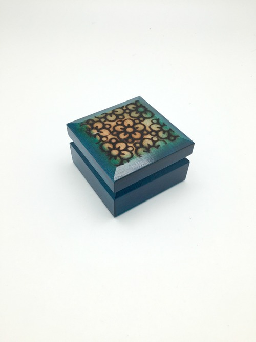 Small Flowers Wood Box