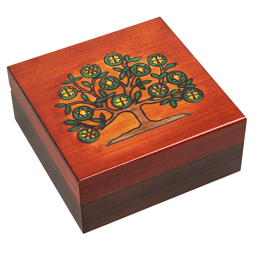 Tree of Life Square Wooden Box