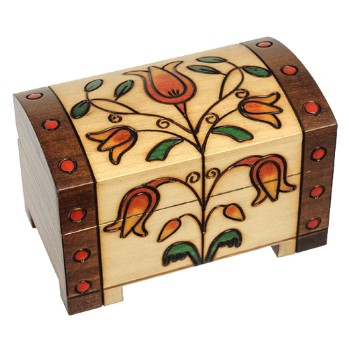 Floral Trunk Wood Box