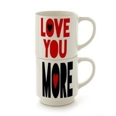 Love You More Stacking Mug Set