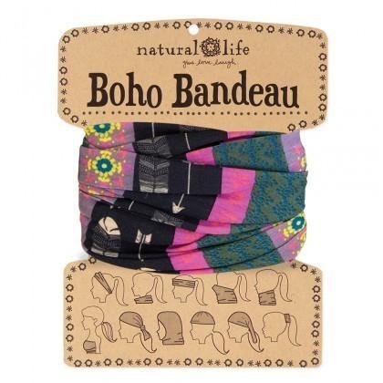 Black Cream Arrow Boho Bandeau