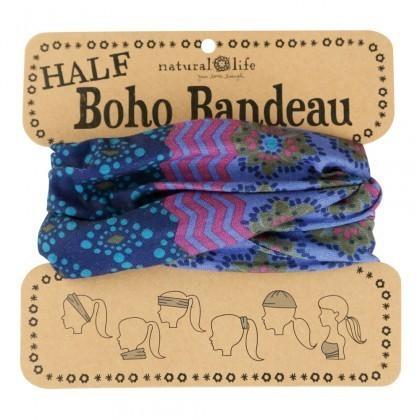 Purple Teal & Blue Half Boho Bandeau