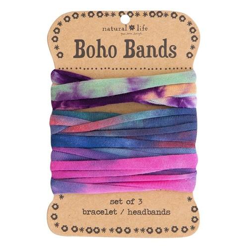 Orange PInk & Green Boho Bands