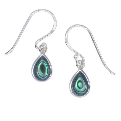 Tiny Abalone Teardrop Earrings