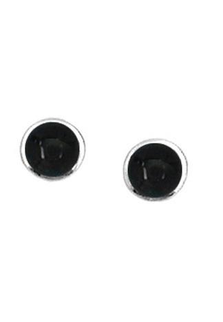 Round Onyx Stud Earrings