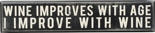 Wine Improves Box Sign