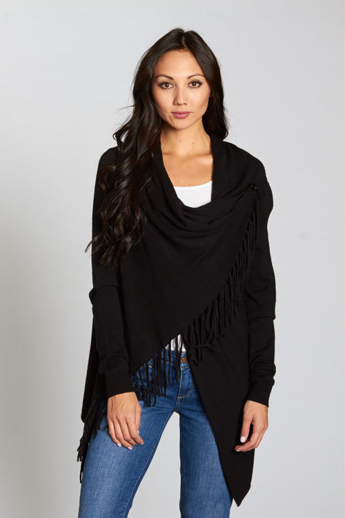 Asymmetrical Fringe Black Card