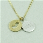 Gold New Jersey Love Necklace