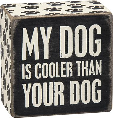 Dog Cooler Box Sign