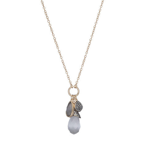 Cats Eye Charm Necklace