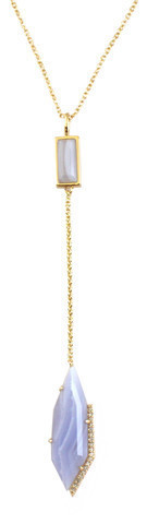 18K Gold Plated Lariat Necklace