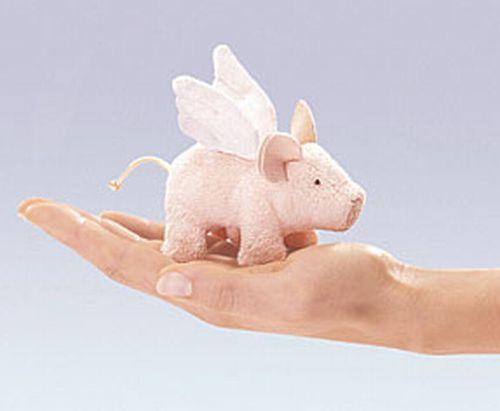 Mini Winged Piglet Finger Puppet