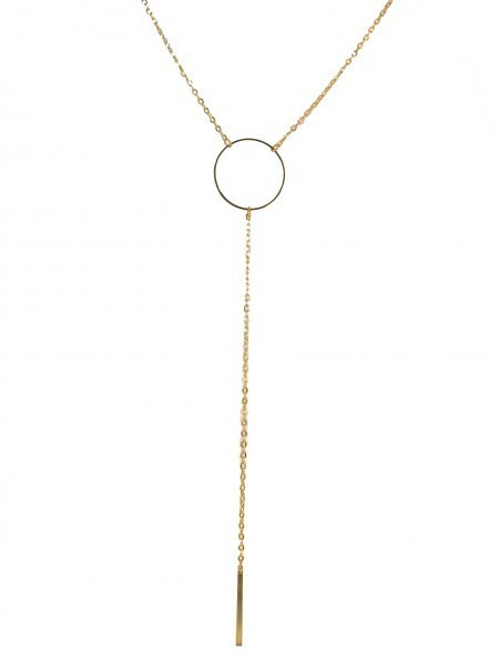 Chain with Circle & Dangle Necklace