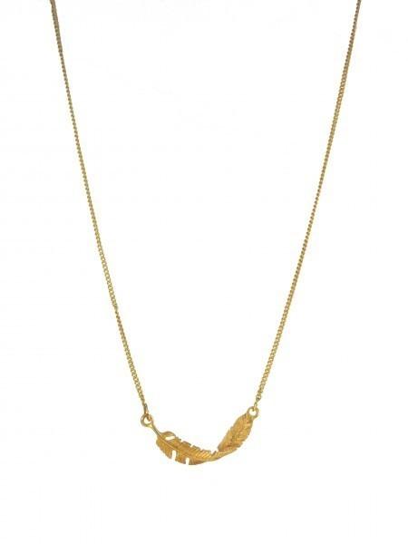 Metal Leaf Necklace