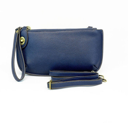 Navy Mini Crossbody Wristlet Clutch