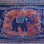 Elephant Batik Single Tapestry