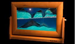 Large Cherry Blue Sand Art