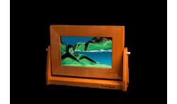 Medium Cherry Turquoise Sand Art