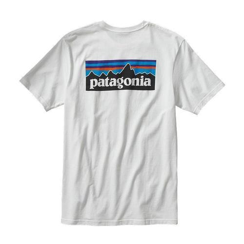 Patagonia M P-6 Logo Cotton T-Shirt White