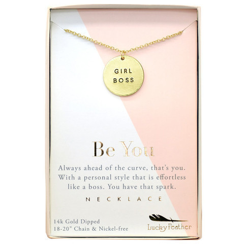 Girl Boss Gold Necklace