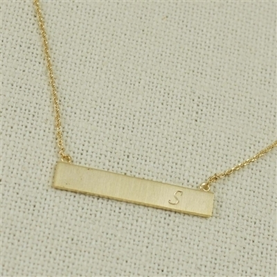 Gold S Bar Necklace